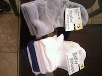 Non skid socks 8 pair Ages 6-18 months Apple Valley, 92307