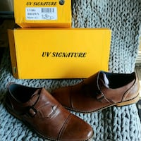 pair of brown leather slip-on shoes with box Manassas, 20112