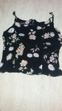 Flowral strap top