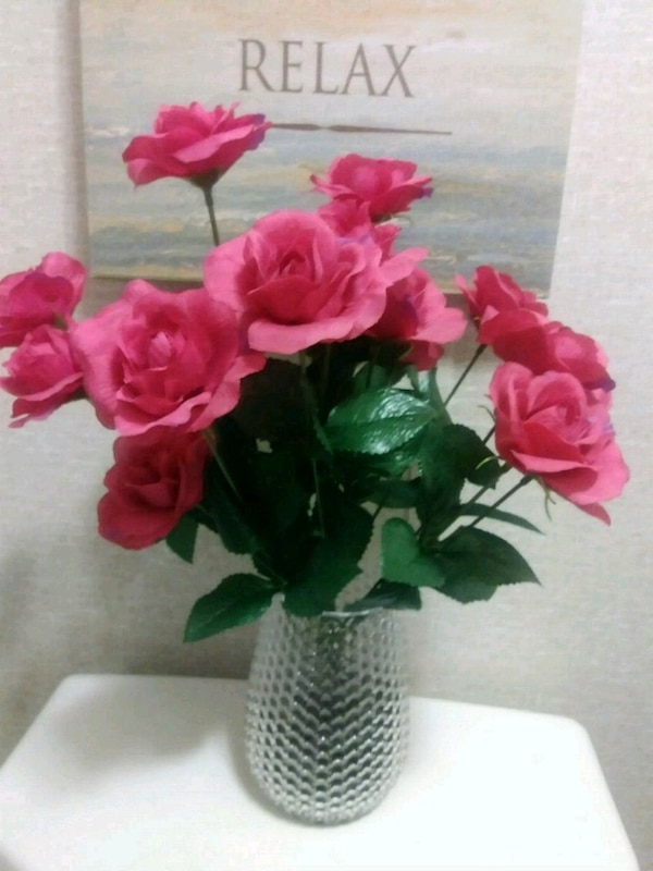 Silk roses plain and simple