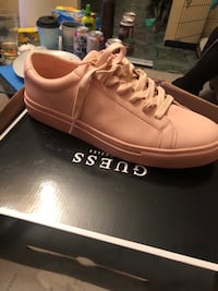 pair of pink Guess low-top sneakers with box Garden City, 67846