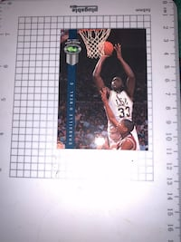 1992 draft pick Shaquille O'neal basketball cards