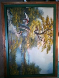 brown tree near house painting with brown frame Welland, L3B 5N5