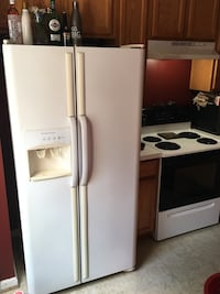 White side-by-side refrigerator with dispenser Bensville, 20603