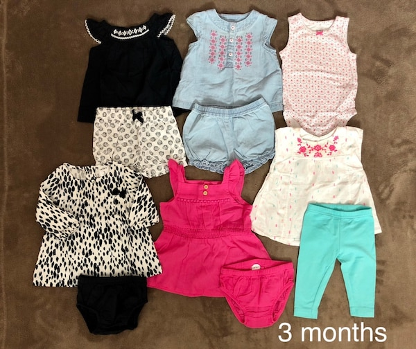 Carters Baby Girl Clothes 3m