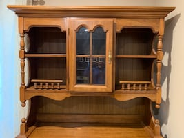 Vintage Two Piece China Cabinet & Wine Bar