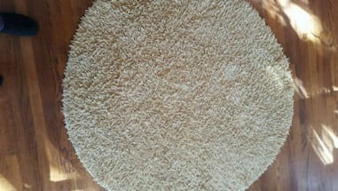 Round Yellow Shag Rug