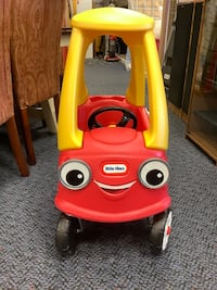 """New Red & Yellow Little Tikes Push Toy """"Cozy Coupe"""""""