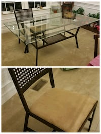 Glass top dining table with or without 6 chairs Aldie, 20105