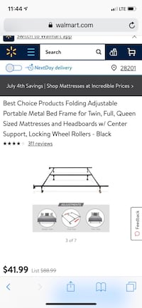 Best Choice Adjustable bed frame, opened box but never used. All parts are available  Charlotte, 28262