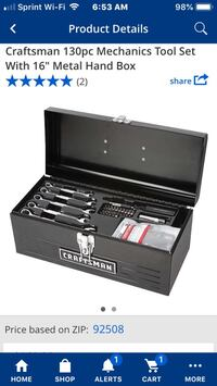 New craftsman 130 paces mechanic tools set and tools box