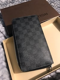 Damier graphite wallet