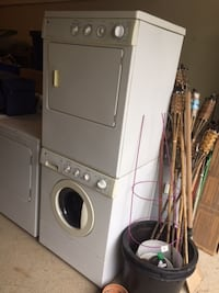 stackable washer dryer GE  BETHESDA