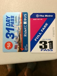 Kcata 31 day bus passes full fare
