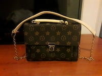 borsa a tracolla nera in pelle Louis Vuitton Monogram 6813 km