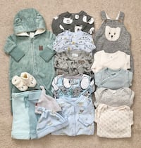 Baby clothing lot size newborn to 3 months  Mississauga, L5M 0H2