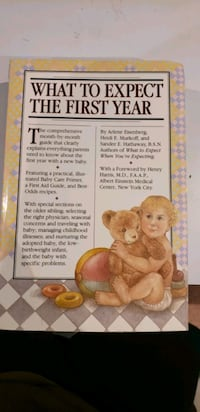 Book :  what to expect the first year $4 Mississauga, L5E 1R9
