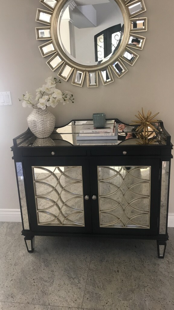 used mirrored console from z gallerie 43 inches wide by 37 for sale rh us letgo com