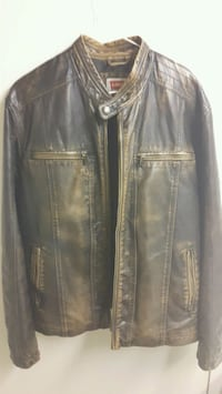 Brown leather Levis jacket  Calgary, T2G 0A4