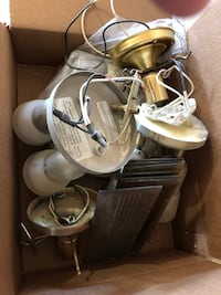 Box of light fixtures 3727 km