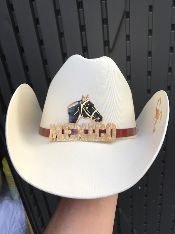 dfccdeb8 Used White Mexico leather cowboy hat for sale in New York - letgo