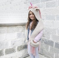 Kids Unicorn Hooded Scarf  Laval, H7P 0E6