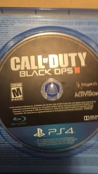 PS4 Call of Duty Black Ops 3 game disc