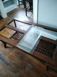 Glass top coffee table with matching end table 146 mi