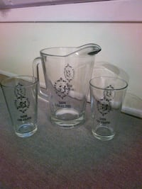 Silver Slipper Casino Pitcher & Glass Set 899 mi