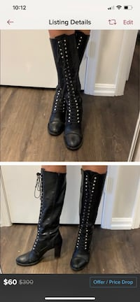 Combat boots - leather - by Charles David