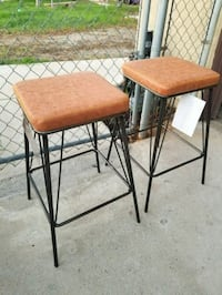"""2 Brand New Metal And Leather Barstools 27""""H  Moreno Valley, 92551"""