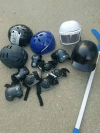 Hockey stick,different helmets,protective gear Chicago, 60634