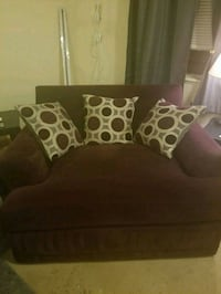 Purple oversized chair with throw pillows Columbus, 43213