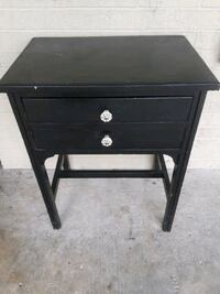 black wooden 2-drawer nightstand San Antonio, 78228