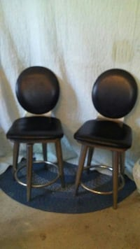 Set of 2 short bar stools, from the 60s or 70's Fort Worth, 76105