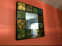 Decorative frame with mirror