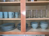 Crate and Barrel dish and cup set