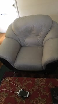 gray fabric padded sofa chair Silver Spring, 20906