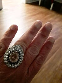White Sapphire and CZ Ring with White Gold Plated.  SIZE 8 Arlington, 22201