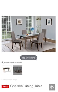 Brown Wood Dinning Set Brampton