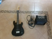 Black electric guitar and guitar amplifier Scottsdale, 85260