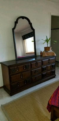 brown wooden dresser with mirror Modesto, 95358