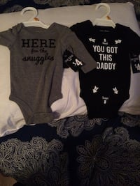 baby's two black and white onesies San Juan, 78589