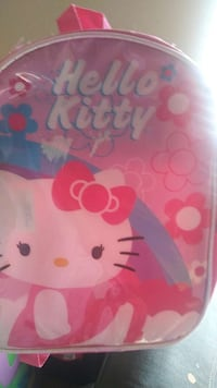 pink and white Hello Kitty themed back pack bag Texas City, 77591