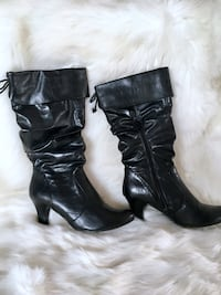 Women's 7 1/2 knee high leather boots  Santa Ana, 92706