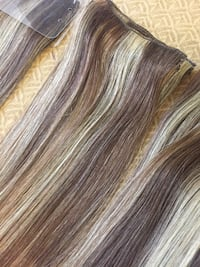 100% Human hair clip extensions 7 pieces