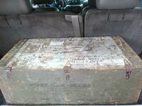 1940'S MILITARY SHIPPING BOX ALL ORIGINAL HARDWARE Summerville, 29483