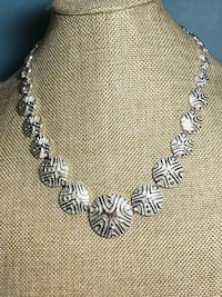 Sterling Intricately Tooled Panel Necklace Simi Valley, 93065