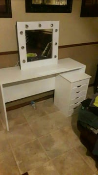white wooden vanity table Carney, 74832