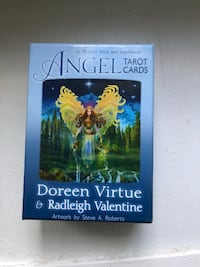 Angel tarot cards with book